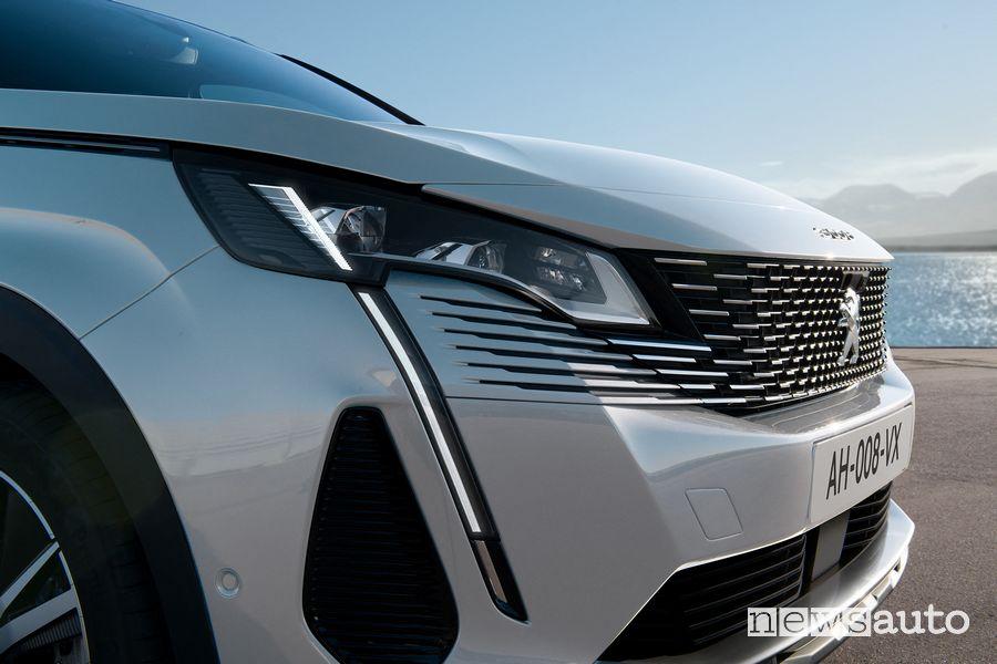 Faro anteriore, calandra nuova Peugeot 3008 Hybrid4