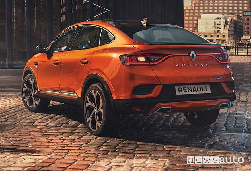 Vista posteriore Renault Arkana