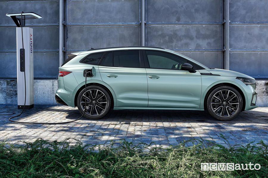 Ricarica rete Ionity Škoda Enyaq iV SUV elettrico