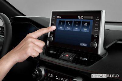 """Touch screen infotainment da 9"""" abitacolo Suzuki Across ibrido plug-in"""