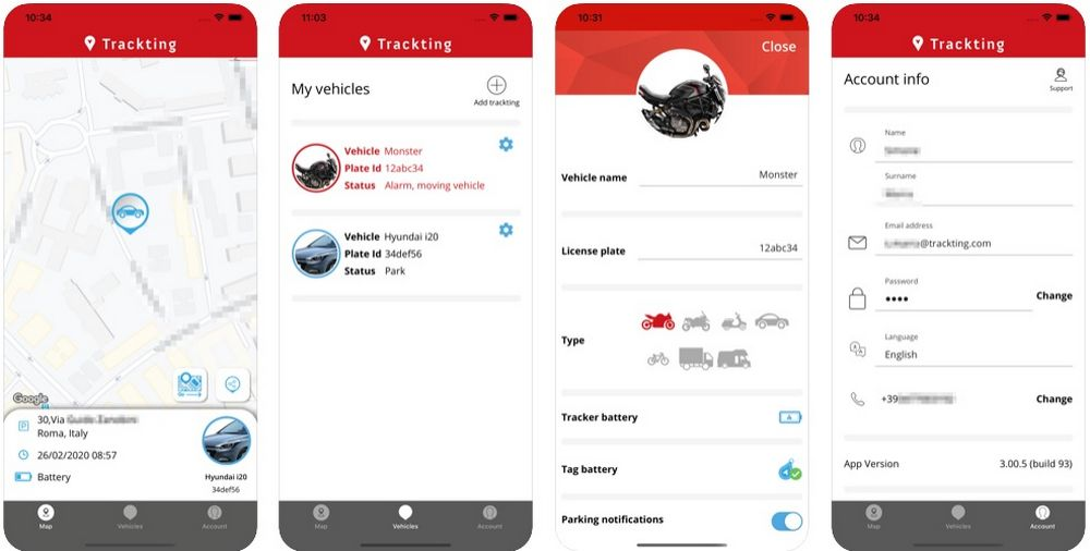 Antifurto per biciclette elettriche, come funziona Trackting Evo App iOS