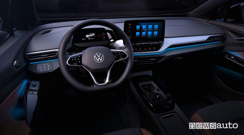 Volkswagen ID.4 abitacolo, come sarà dentro