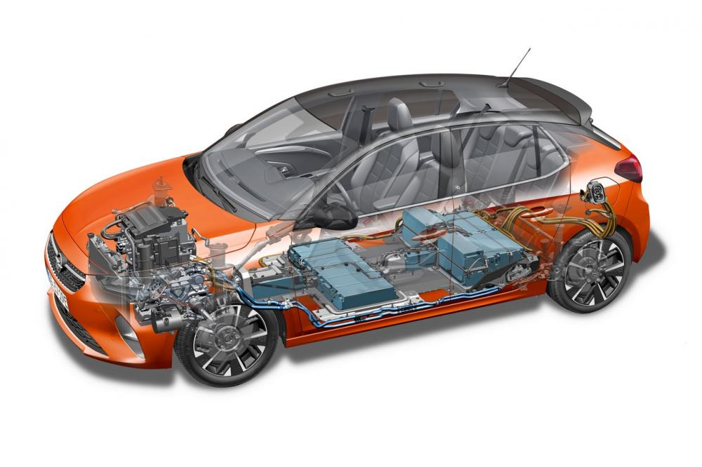 Batteria elettrica di trazione della Opel Corsa-e elettrica