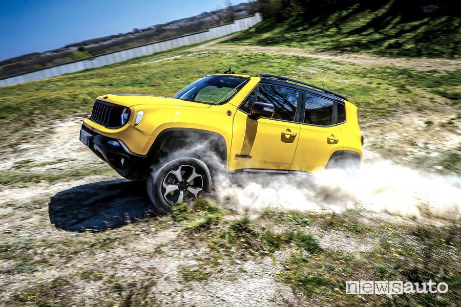 Jeep Renegade Trailhawk in off road sullo sterrato