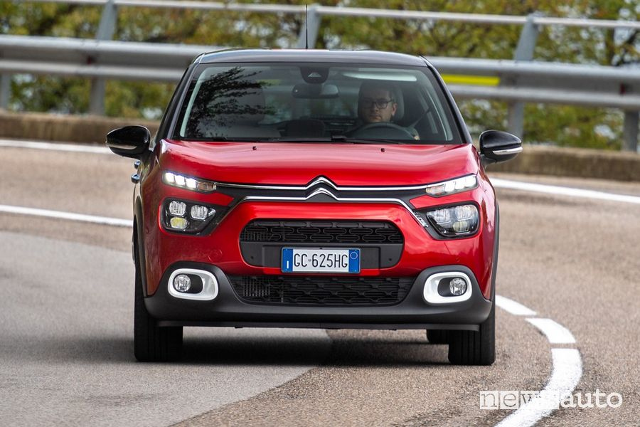 Vista frontale nuova Citroën C3