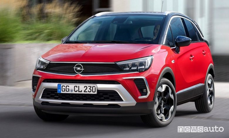 Vista anteriore nuovo Opel Crossland GS Line