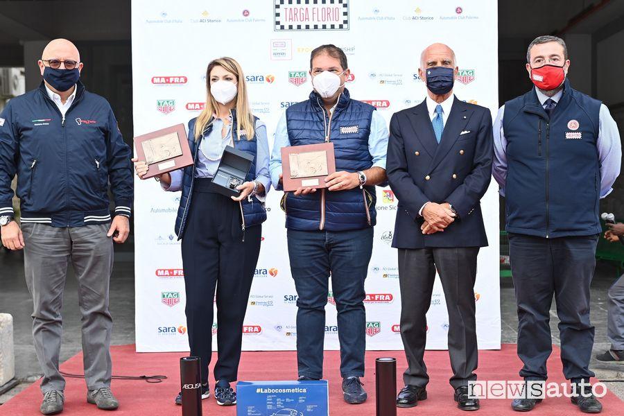 Podio, vincitori Targa Florio Classica 2020