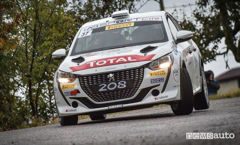 Rally Due Valli 2020, vittoria Peugeot Andreucci