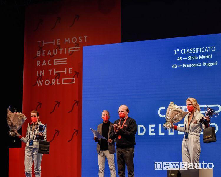 """Silvia Marini e Francesca Ruggeri hanno vinto la """"Coppa delle Dame"""", al volante della Bugatti T40 del 1929"""