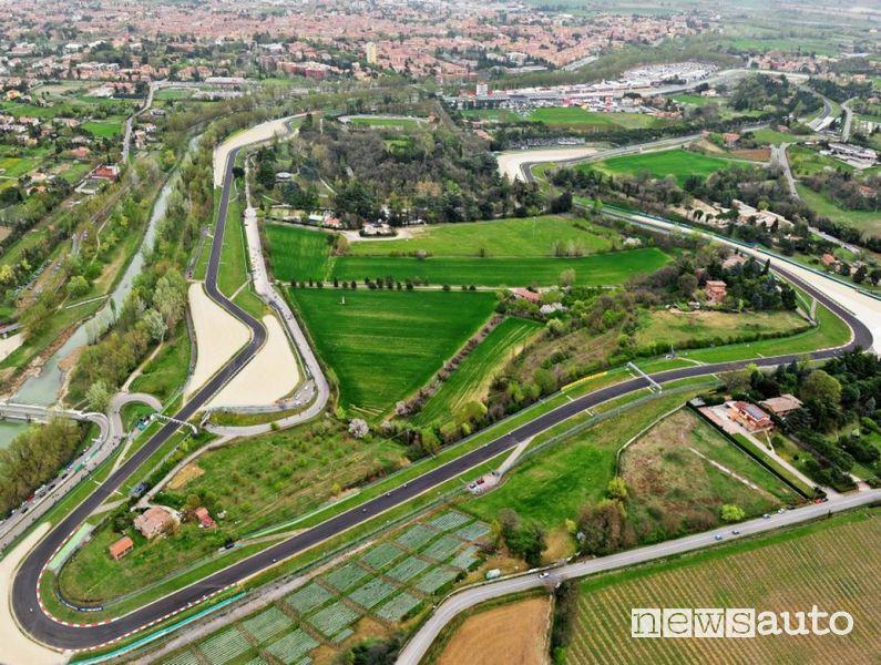 Vista aerea del circuito di Imola F1