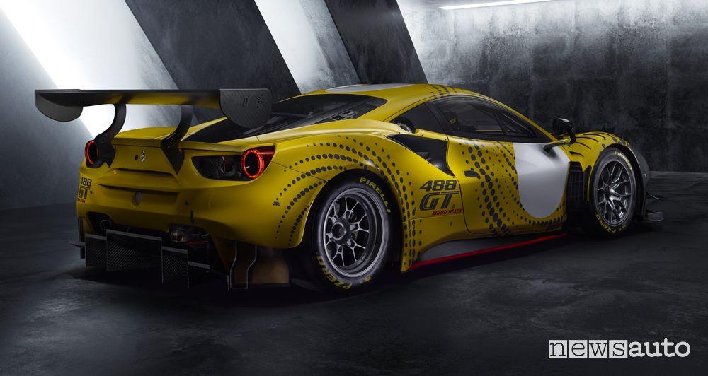 Vista posteriore Ferrari 488 GT Modificata