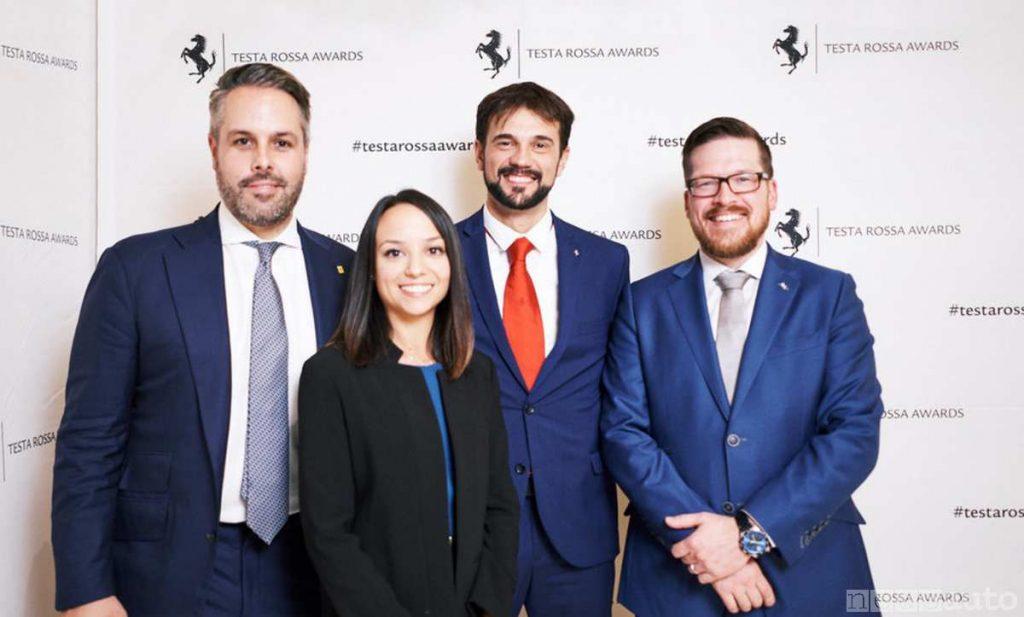 I vincitori dei Ferrari Testa Rossa Awards 2019: da sinistra Roesner, Segura, Tonolli e Martinson