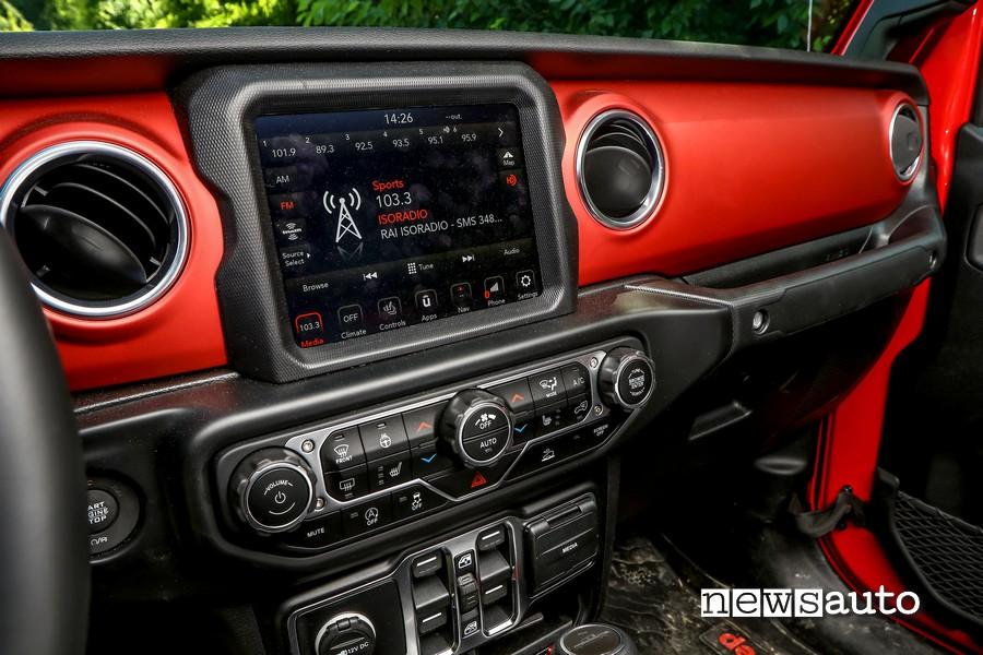 "jeep rubicon gladiator schermo touchscreen 7"""
