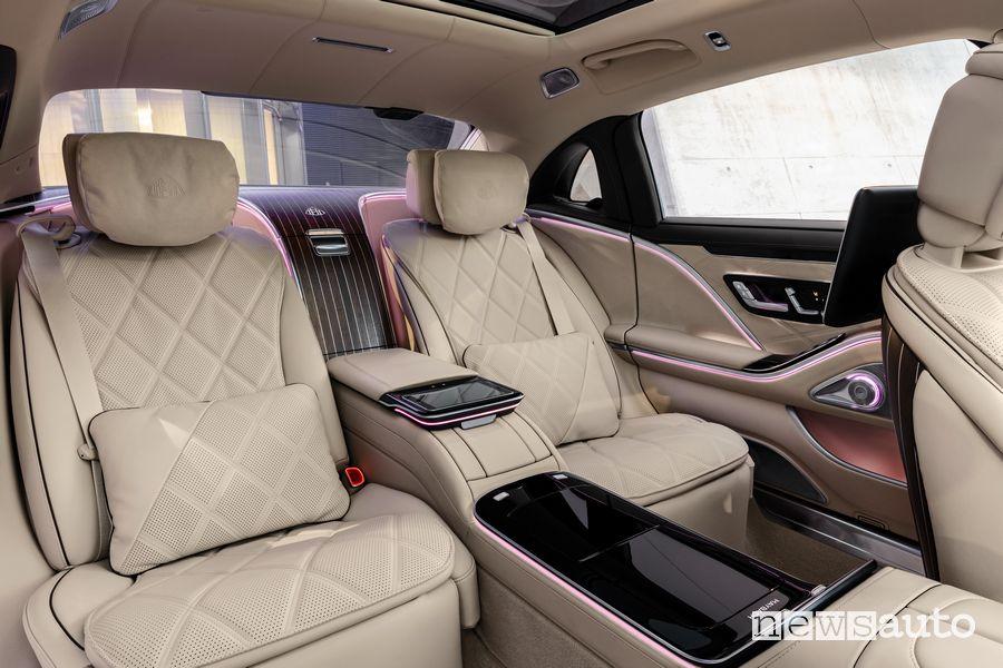 Sedili posteriori abitacolo Mercedes-Maybach Classe S
