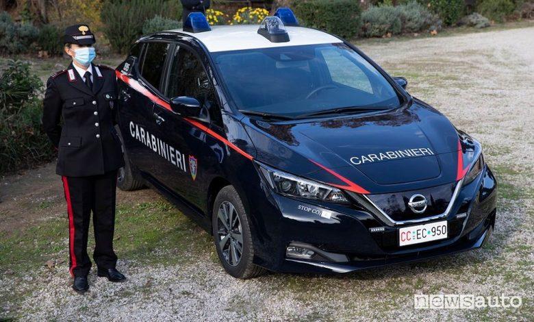 Carabinieri con auto elettriche e ibride a Roma
