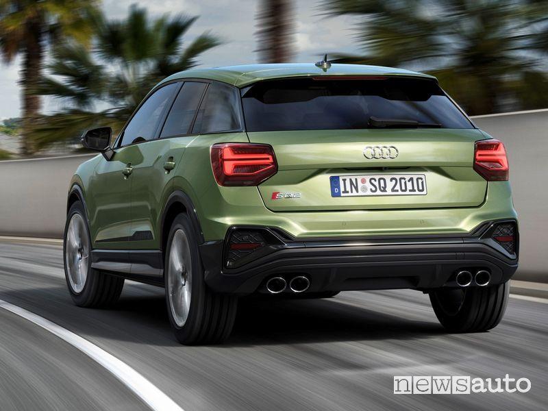 Vista posteriore Audi SQ2