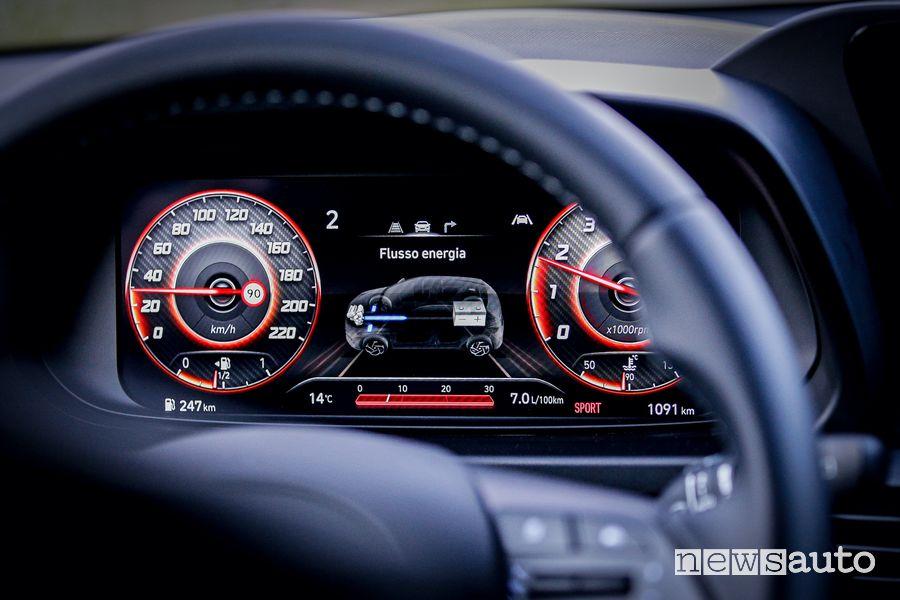Info recupero energia sistema MHEV cruscotto nuova Hyundai i20