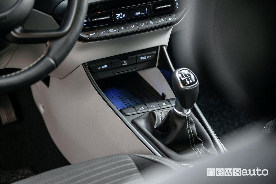 Leva cambio manuale 6 rapporti abitacolo nuova Hyundai i20
