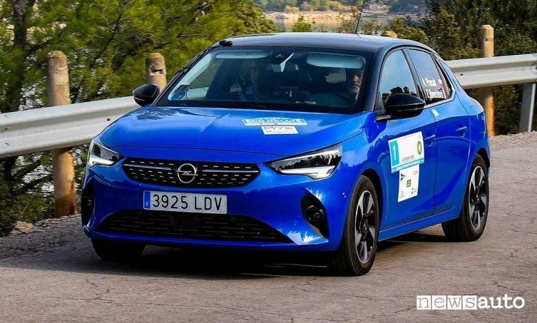 Gara auto elettriche, record consumo energetico per l'Opel Corsa elettrica