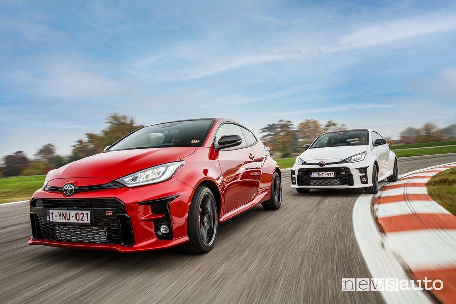 Nuova Toyota GR Yaris in pista