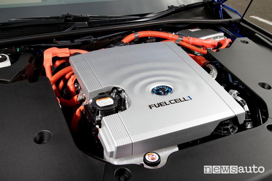 Vano motore fuel cell idrogeno nuova Toyota Mirai