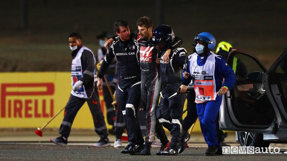 Grosjean come sta dopo l'incidente in Bahrain