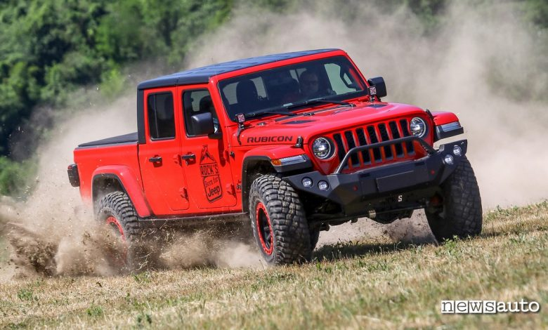 Jeep Gladiator, gamma, allestimenti e prezzo