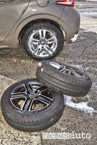 Cerchi MAK usati per il test sui pneumatici invernali ed estivi GT Radial