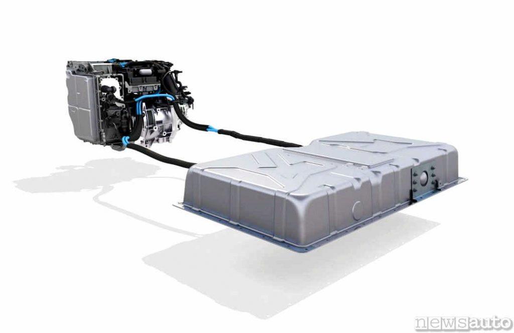 Il gruppo batteria agli ioni di litio e motore elettrico della Twingo elettrica
