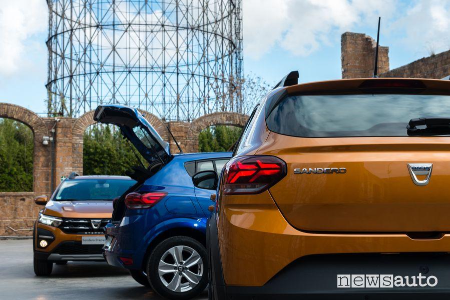 Portellone posteriore nuova Dacia Sandero Steptway