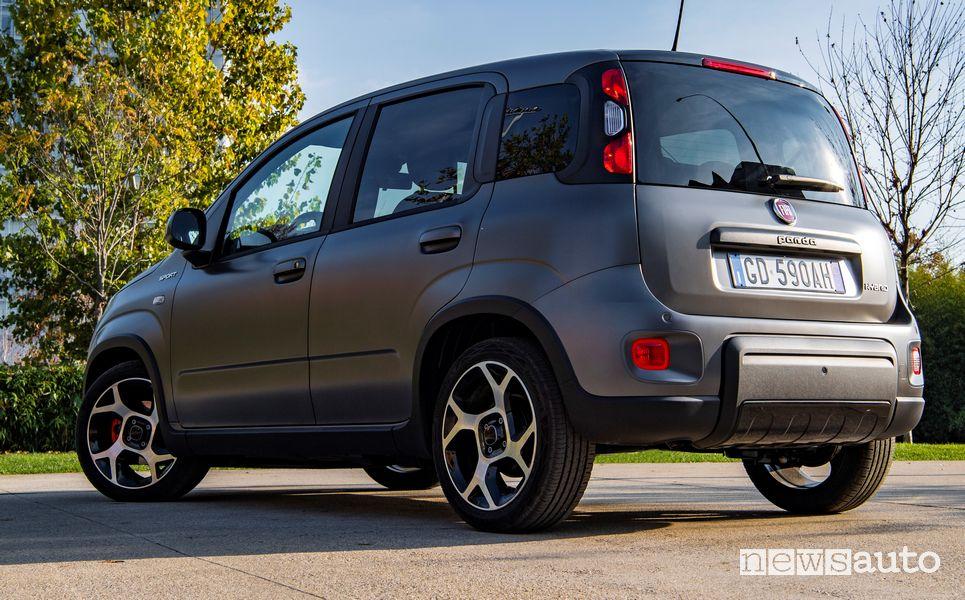 Vista posteriore Fiat Panda Sport