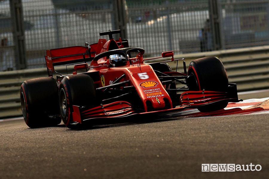 Qualifiche F1 Gp Abu Dhabi 2020 Ferrari Sebastian Vettel