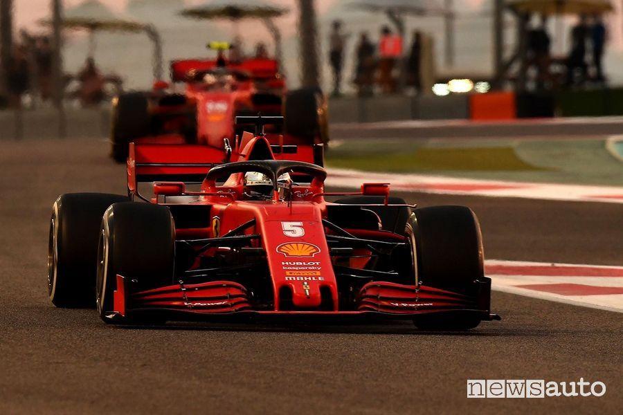 Sebastian Vettel ha chiuso la sue esperienza in Ferrari con un deludente 14° posto ad Abu Dhabi