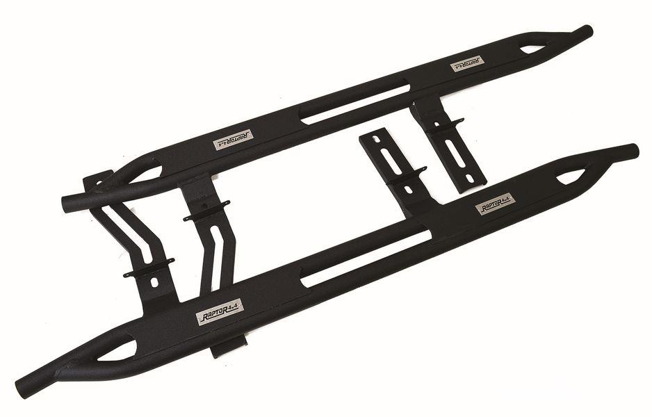Raptor 4x4-Sottoporta Tubolari HD con rinforzo verniciato a polvere nera Renegade