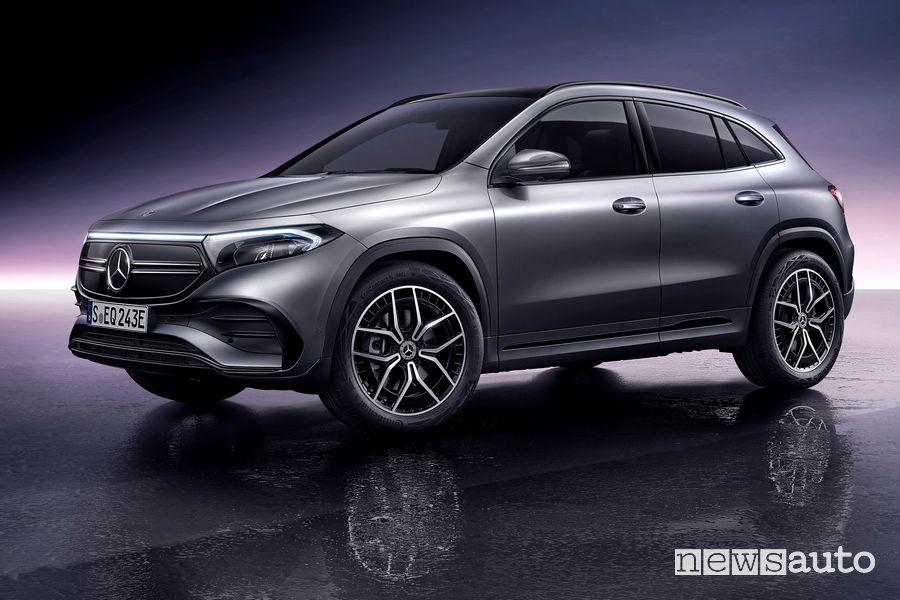 Vista di profilo Mercedes-Benz EQA AMG Line