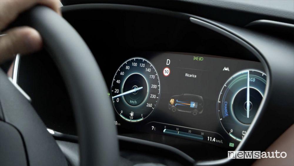 Cruscotto digitale abitacolo nuova Hyundai Santa Fe