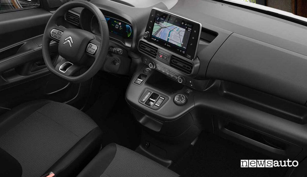 Quadro strumenti del nuovo Citroën ë-Berlingo Van integrato nell'abitacolo