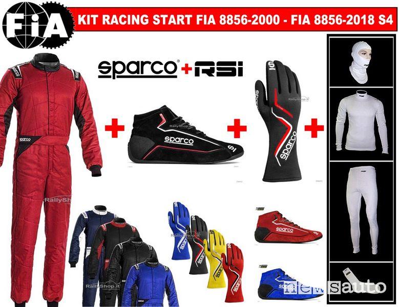 bigliamento per diventare pilotale deve essere conforme alle norme FIA 8856-2000: tuta, sottotuta in due pezzi, calze, guanti, scarpe, sottocasco, tutti rigorosamente ignifughi