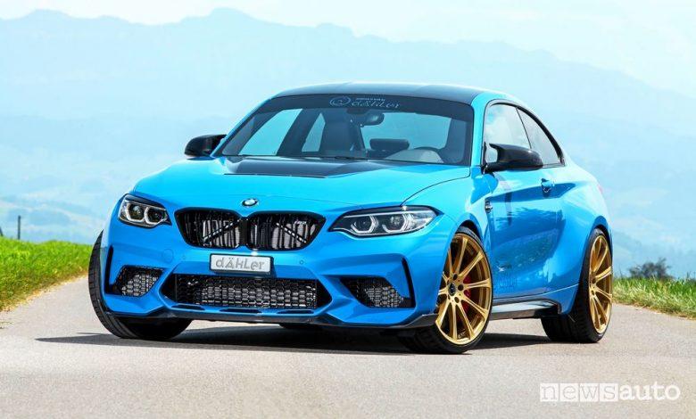 Vista di profilo dÄHLer BMW M2 CS DCL