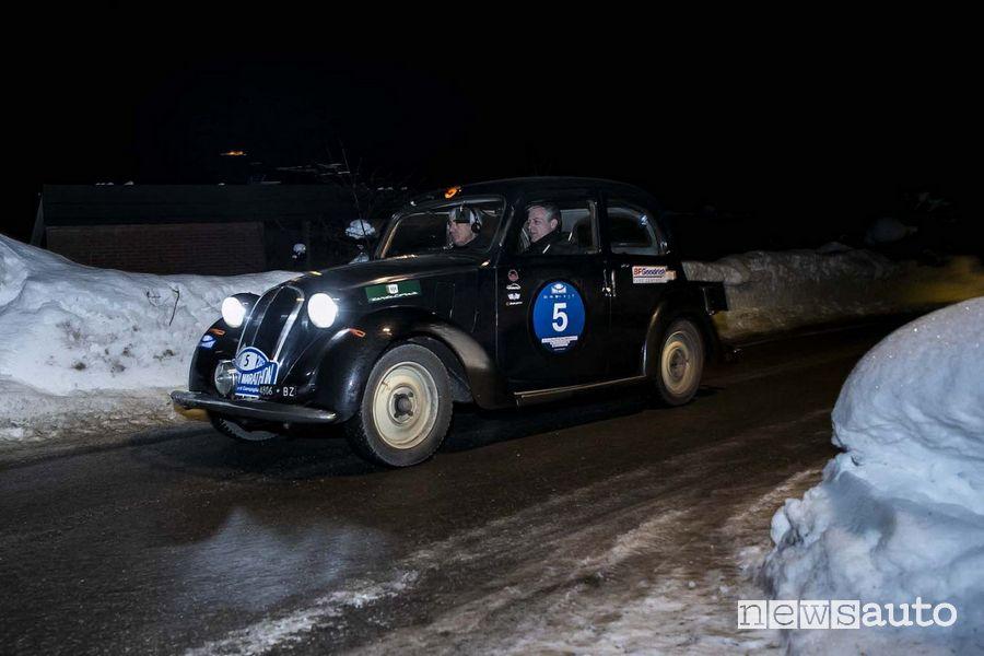 Equipaggio Aliverti-Valente (Fiat 508 C 1937) 2° classificato alla Winter Marathon 2021