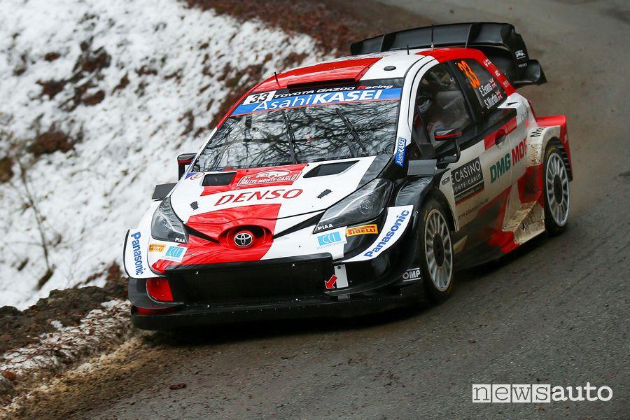 Rally di Montecarlo 2021, dominio Toyota Elfyn Evans