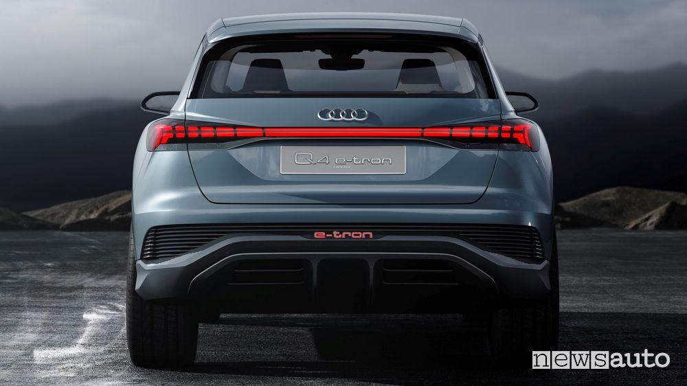 Posteriore Audi Q4 e-tron concept