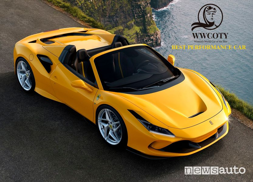 Ferrari F8 Spider miglior auto sportiva Women's World Car of the Year 2021