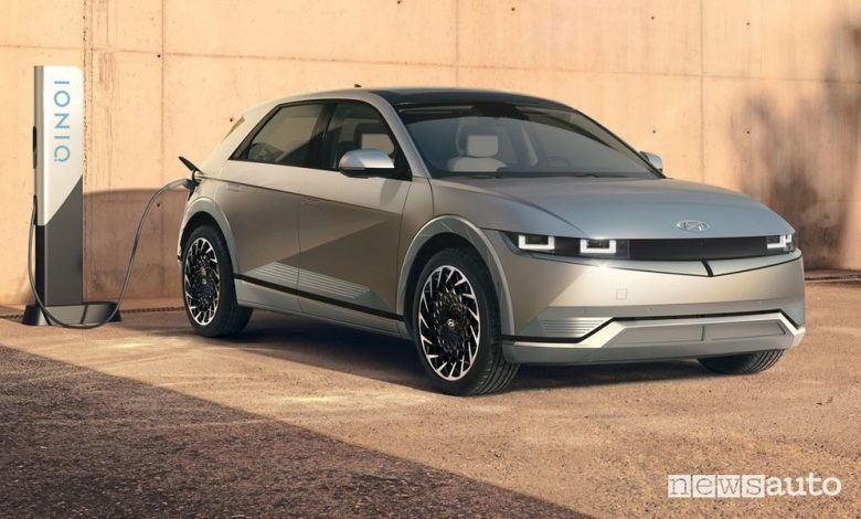 Nuova Hyundai Ioniq 5 in ricarica