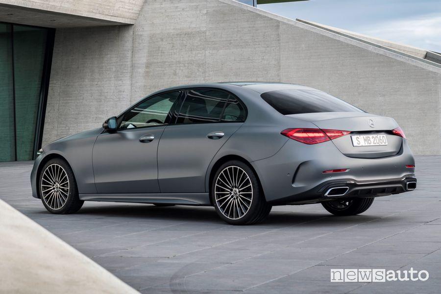 Vista posteriore nuova Mercedes-Benz Classe C