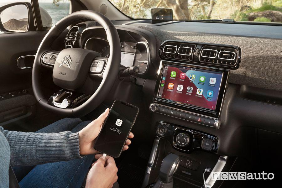 """Touch Pad da 9"""" con Apple CarPlay nuovo Citroën C3 Aircross"""