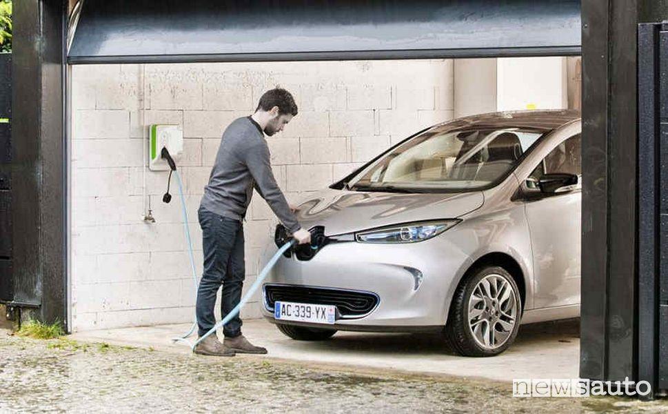 Come ricaricare nel box l'auto elettrica