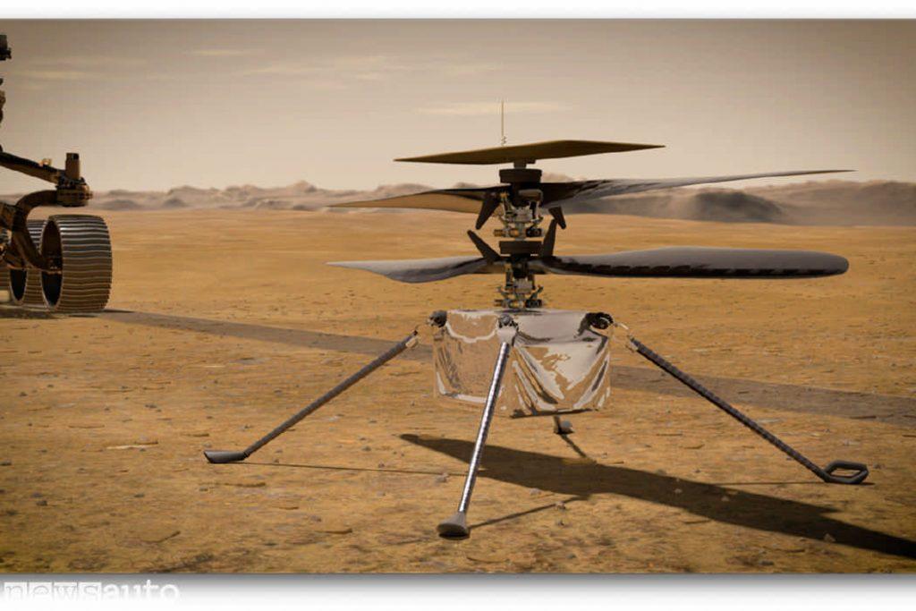 Il drone-elicottero su Marte