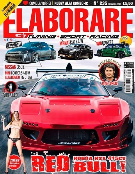 Magazine ELABORARE n.235 con la prova integrale della Honda NSX