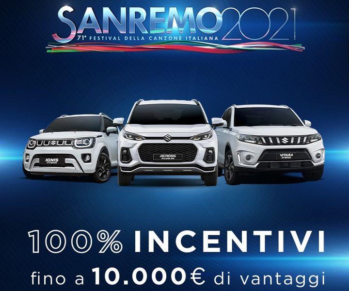 Suzuki auto ufficiale al Festival di Sanremo 2021